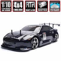 HSP Racing Rc Drift Car 4wd 1:10 energía eléctrica en el camino Rc Car 94123 FlyingFish 4x4 Vehículo de alta velocidad Hobby coche de Control remoto