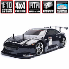 Hsp corrida rc drift carro 4wd 1:10 energia elétrica na estrada rc carro 94123 flyingfish 4x4 veículo de alta velocidade hobby carro de controle remoto