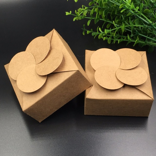 c7b2133ae 20pcs/lot Kraft Paper packing gift boxes wedding DIY handmade  candy/chocolate /Handicraft/jewelry Box storage boxes
