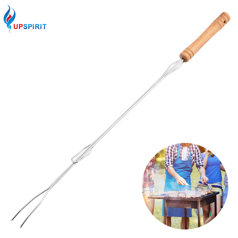 Upspirit stainless steel adjustable bbq stick fork u