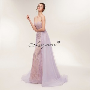Image 2 - Free Shipping Heavy Beaded Sexy Trumpet Evening dress 2020 Open Back Sleeveless Sparkly Crystals Prom Dress Custom Made