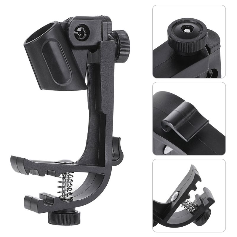 New Adjustable Microphone Clips On Drum Rim Anti-shock Mount Clamp Stand Holder Tool