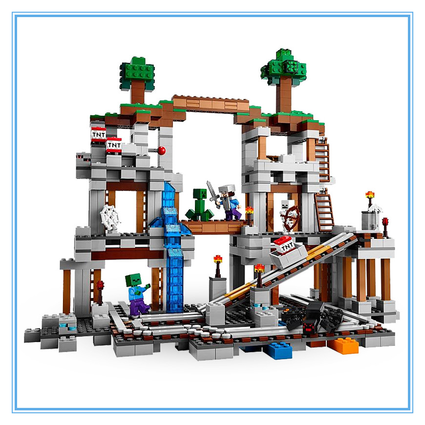 Lepin 18011 922pcs My World Minecraft The Mine Building Blocks Bricks anime action Figures Enlighten hot Toys for children 21118 new arrival jx mine tower my world minecraft building blocks bricks toys for children gift