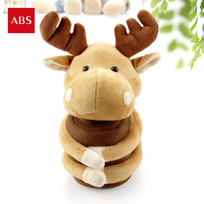 candice guo! cute plush toy doll deer brown reindeer hug hug blanket cartoon casual blanket nap cushion bithday gift 1pc super cute plush toy dog doll as a christmas gift for children s home decoration 20
