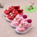 Insole 12.3-14.8cm  New Girls Shoes Autumn Baby Toddler Shoes PU Bow Soft Non Slip Bottom Shoes