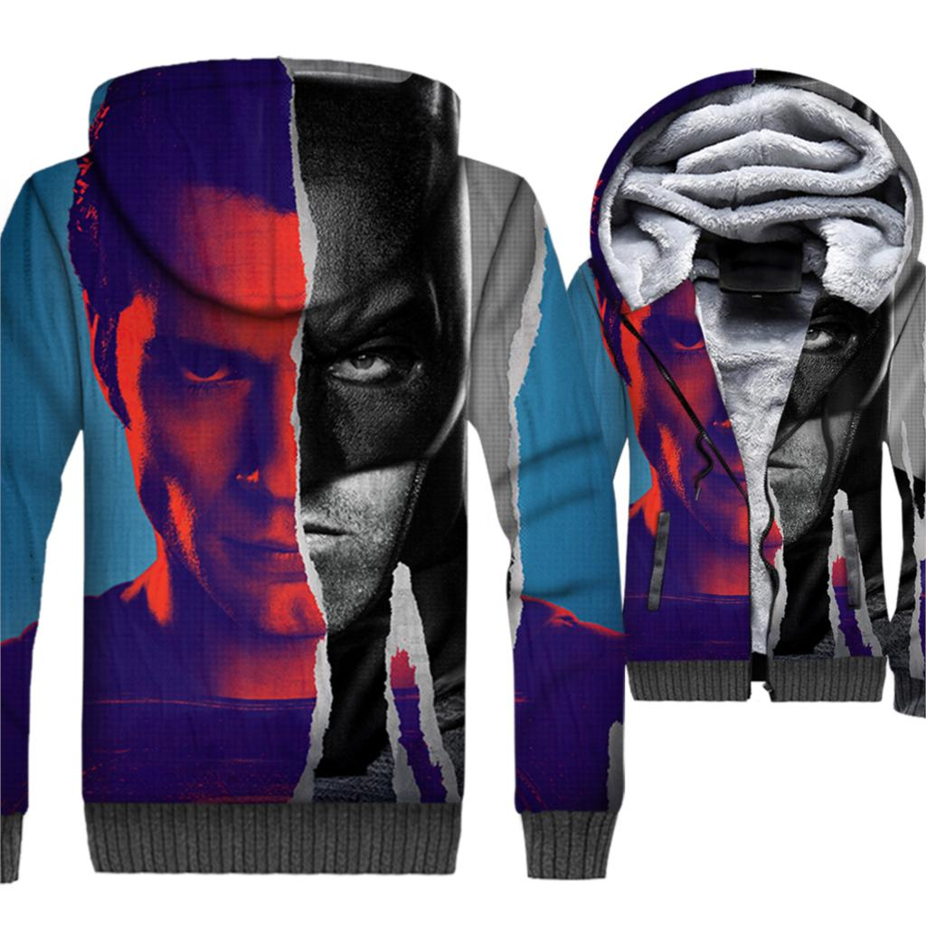 Movie Batman VS Superman 3D Hoodies Wonder Women 2019 Autumn Winter Warm Jacket Men Casual Slim Fit Coat Hip Hop Streetwear in Hoodies amp Sweatshirts from Men 39 s Clothing