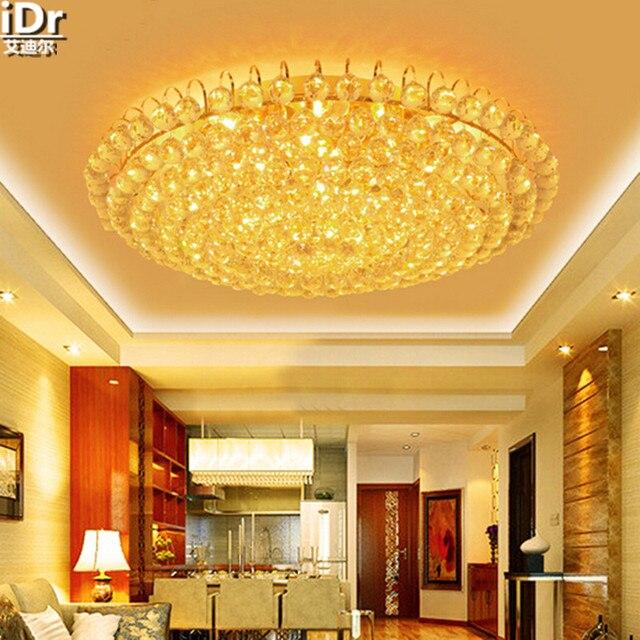 Gold runden hochwertigen kristall lampe wohnzimmer lampe FÜHRTE ...