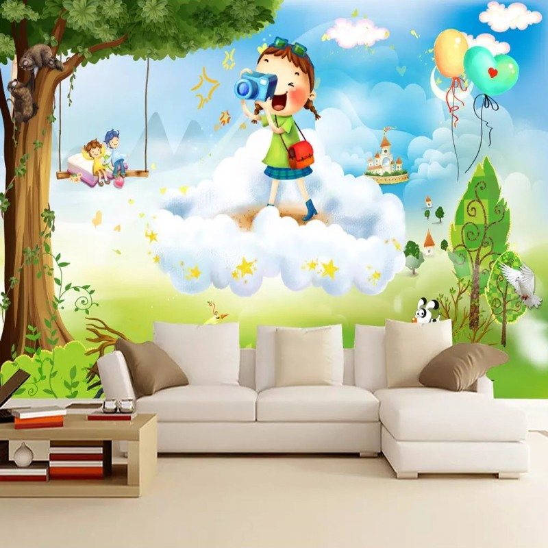 Living, Bedroom, Custom, Cartoon, Photo, Mural