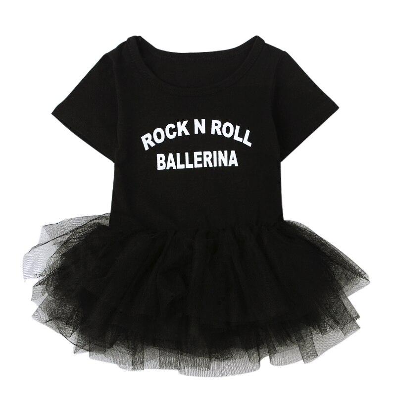 2017 Cute Baby Dresses Black Lace Princess Party Wedding Costumes Cotton Baby Girls Tutu Dress Newborn Infant Bodysuits Summer