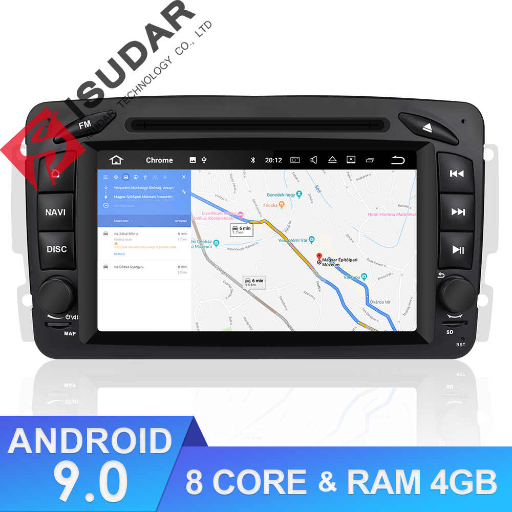 Isudar Car Multimedia Player 2 Din Car Radio GPS Android 9 For Mercedes/Benz/CLK/W209/Vito/W639/Viano/Vito Canbus DVD Player DSP
