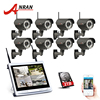 ANRAN 8CH 12 LCD NVR Wireless Security Camera Kit 960P HD Varifocal 2 8mm 12mm Outdoor