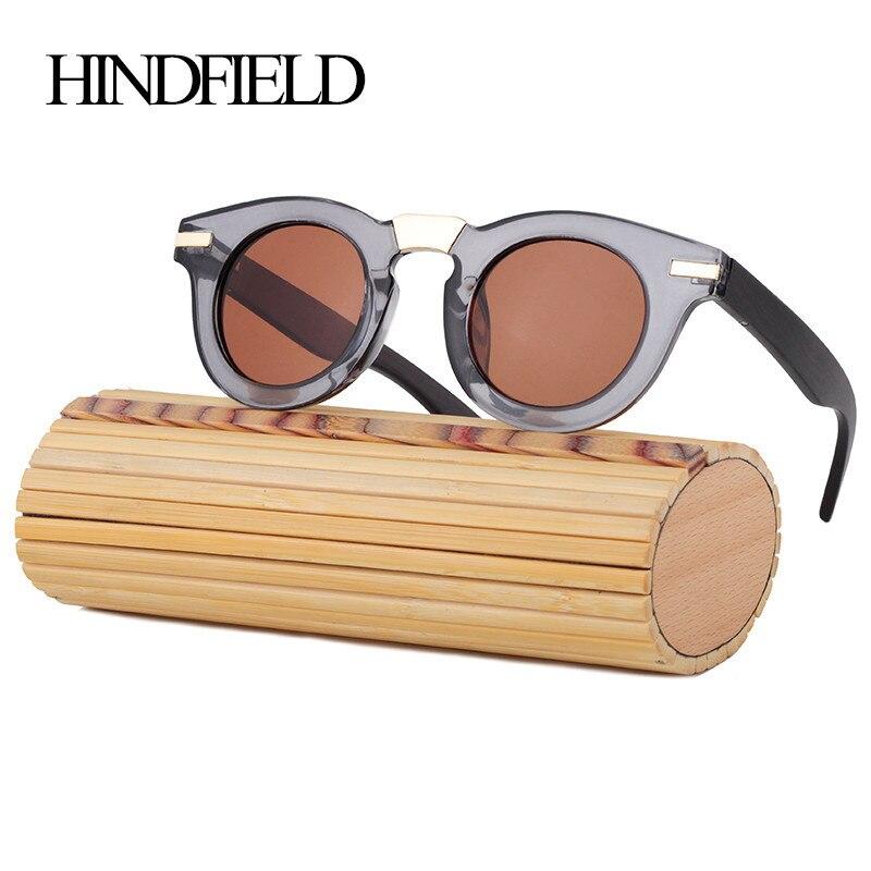 4c664cb9aba72 HINDFIELD New Polarized Sunglasses Women Men Brand Mirror Sun Glasses  Bamboo Plastic Frame Oculos De Sol Masculino