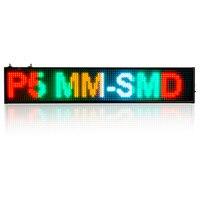 82 CM 16*160 pikseli P5 SMD LED wyświetlacz Programowalny Przewijanie Wiadomość wyświetlacz led Pokładzie ZNAK Czasu odliczanie Wielu-kolor Opcjonalne