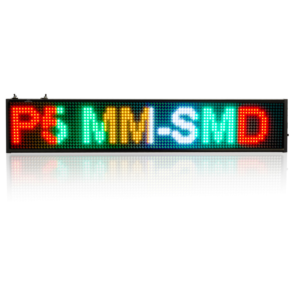 82CM 16 * 160 Pixel P5 SMD LED SIGN Time Countdown Display Programmable Scrolling Message Led Display Board Multi-color Optional