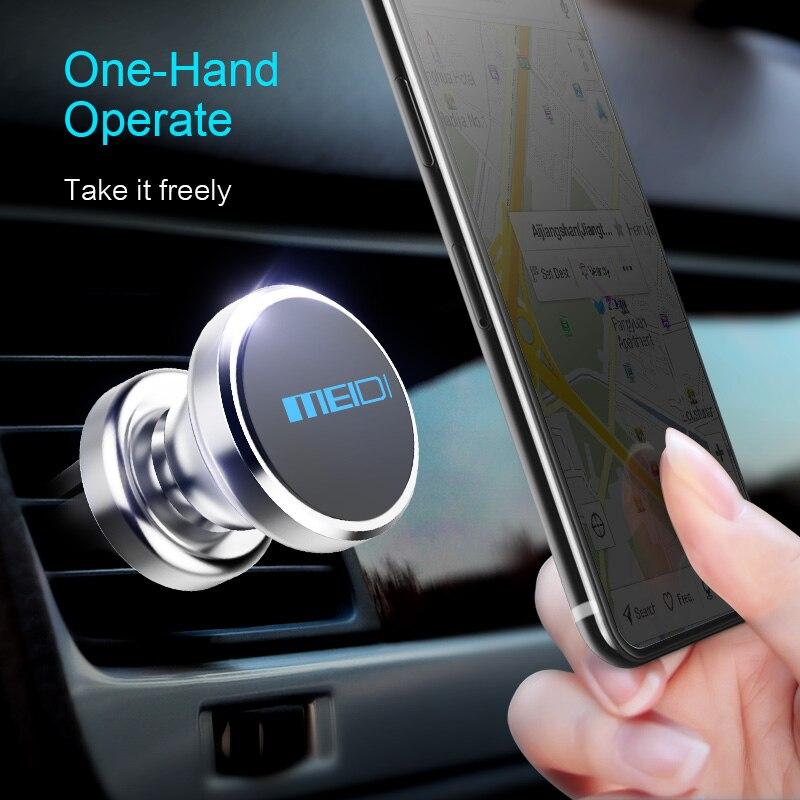 MEIDI Metal Soporte magnético para teléfono de coche Soporte de - Accesorios de interior de coche - foto 6