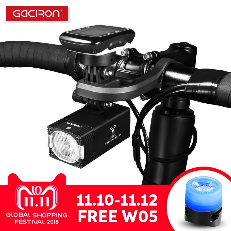 Gaciron Intelligent V7S 500 800Lumen Mountain Bike Light Go Pro Mount Rechargeable IPX6 Bicycle Light For Race велосипед cube reaction hybrid race 500 29 2018