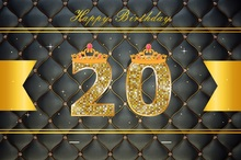 Laeacco  Leather Diamonds Glitters Girl 20th Birthday Photography Backgrounds Customized Photographic Backdrops For Photo Studio