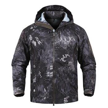 Outdoor Tactical Windproof Jacket Men Thin Hoodie Military Windbreaker Camouflage Jackets Trekking Camping Climbing Sport Jacket