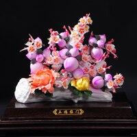 День рождения цветок украшения пять благословений спустились на дом персиковой формы Mantou большие коллекции искусства домашнего интерьера