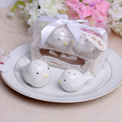 100Set Lot 200Pcs Lot Feathering the Nest Love birds Salt and Pepper Shaker wedding gifts Free
