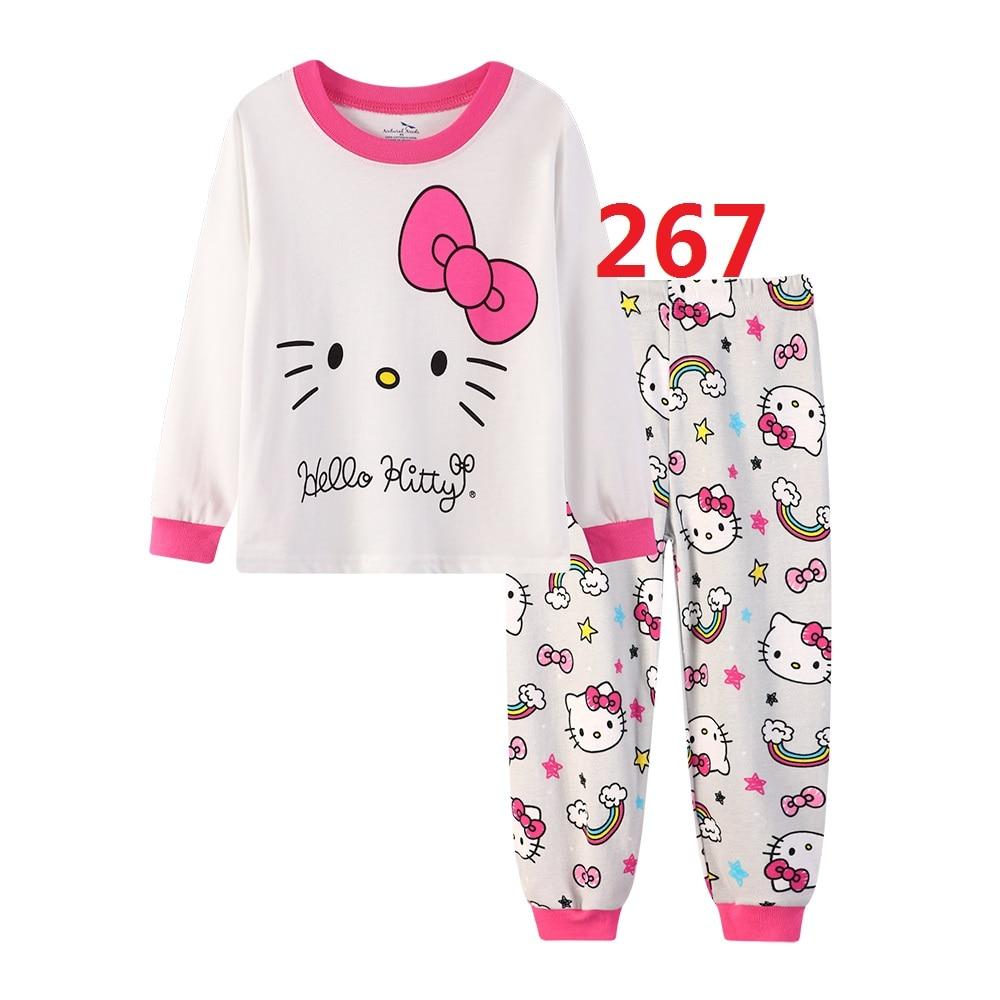 Kids Girls Casual Cotton Home Pajamas Sets Children's Cartoon Long Sleeved Pajamas Clothing Sets Girl High Quality Pyjamas Set