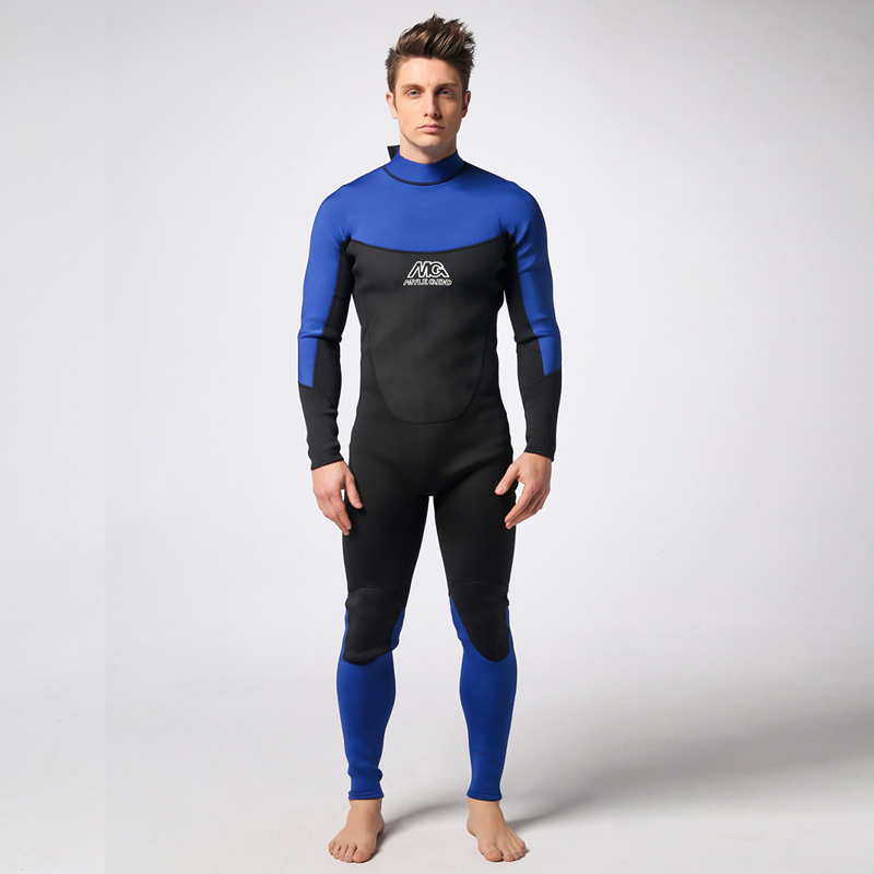 Spearfishing Piece Wetsuit thickened 3MM Neoprene Scuba Diving Suit Surfing Wetsuits winter swimming Triathlon Anti-UV clothing plus size spearfishing wetsuit 3mm