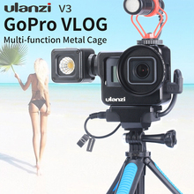 ULANZI V3 Metal Vlog Cage Multi-function for Gopro 7 6 5 with Universal 52MM Filter Interface Mic Adapter Mic/LED Light