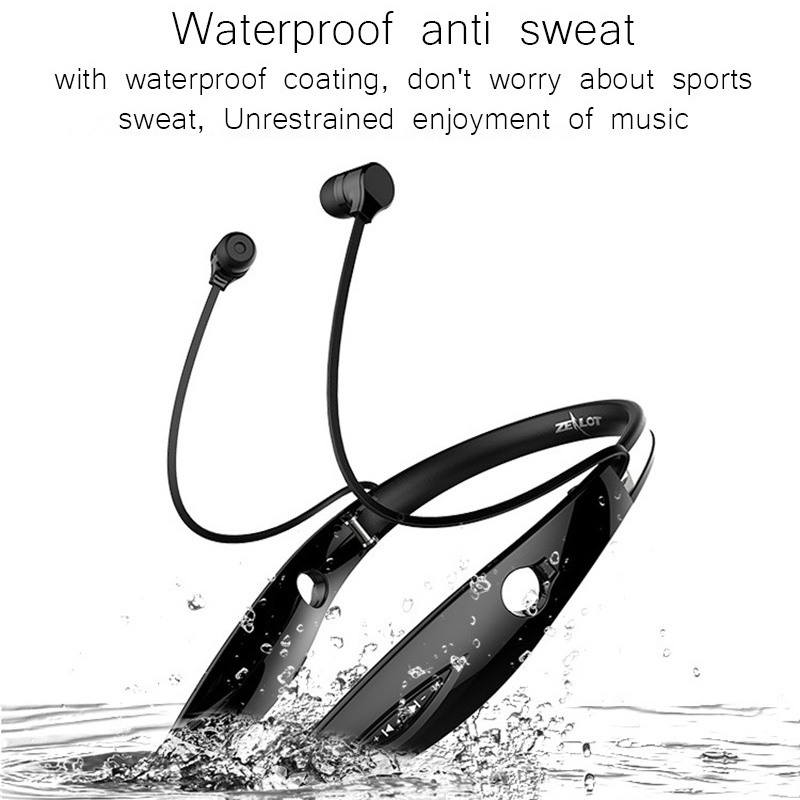 Zealot H1 Bluetooth Headphone Sport Running Headset Wireless Stereo Bass Auricolare Vivavoce per Xiaomi Mobile Phone con microfono