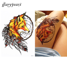 1 PC Waterproof Fake Temporary Tattoo Sticker HB358 Tribe Fox Peacock Feather Design Body Art Tattoo For Women Men Holiday Gifts