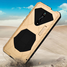 Rugged Case For Xiaomi Mi 9T Mi9T Pro/ Redmi K20 Pro Shockproof Heavy Duty Hybrid Hard Armor Rubber & Aluminum Metal Cover Case