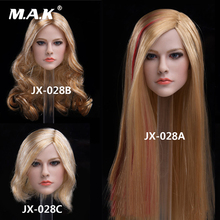 """1/6 JX-028A/B/C Female Head Carved Singer Avril Pale Skin Head Sculpt Model for 12"""" PH Woman Action Figure Body Toys"""