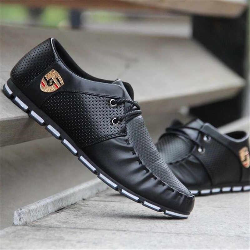 ยี่ห้อใหม่แฟชั่นผู้ชาย Loafers ผู้ชายรองเท้าหนังคุณภาพสูงผู้ใหญ่รองเท้าแตะผู้ชายรองเท้าชายรองเท้า Unisex 2019