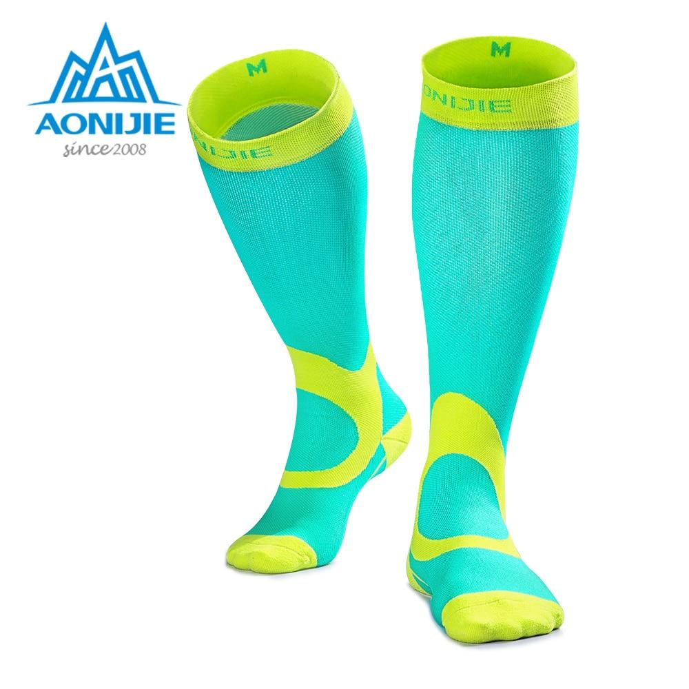 Besorgt Aonijie E4069 Kompression Socken Strümpfe Sportlich Fit Für Lauf Marathon Fußball Radfahren Krankenschwestern Shin Schienen Sport Oudtoor Lauf