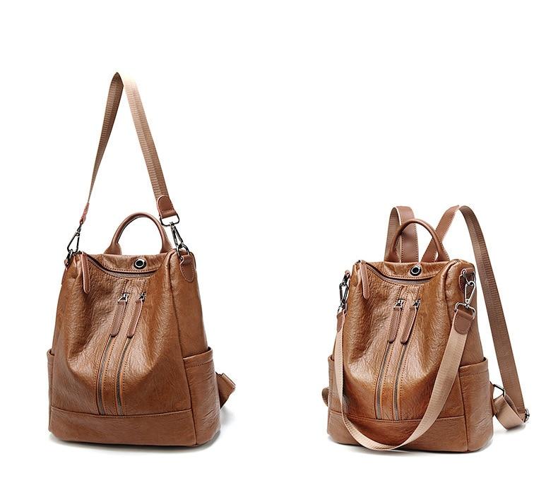 HTB14WFQbtzvK1RkSnfoq6zMwVXa3 Female backpack mochila feminina casual Multifunction Women Leather Backpack Female Shoulder Bag Sac A Dos Travel Back Pack