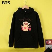 BTS Happy New Year Puppy Tracksuit Loose Hoodie Sweatshirt New European Style Streetwear Hot Sale Cute