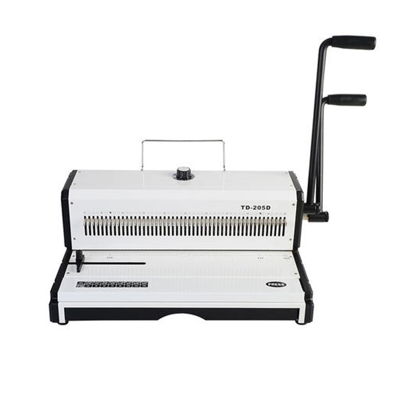 A3 Manual Spiral Wire Binding Machine Paper Puncher 46 Holes Paper Cutter Decorative Hole Punch  Punching Machine TD-205D