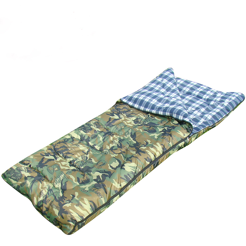 Cotton Sleeping Bag Winter Spring Autumn Outdoor Camping Cotton Sleeping Bag Envelope Style Adult Ultralight Portable Camouflage hewolf sleeping bag outdoor cotton lunch break room camping adult spring autumn envelope thickening 2 persons