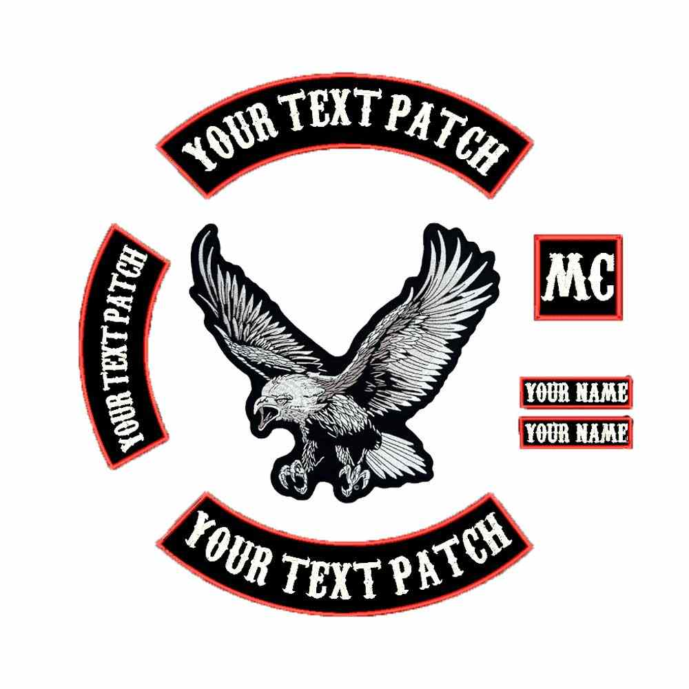 LARGE EAGLE BACKING Embroidered punk biker Patches Clothes Apparel Accessories Badge