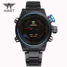 Moda Hombres Del Reloj de la Famosa Marca Deportes Relojes Casual Horas Reloj de Cuarzo Resistente Al Agua Reloj LED montre reloj relogio masculino