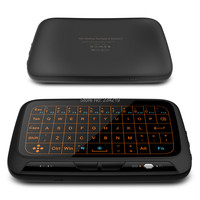 New H18 Full Touchpad 2 4GHz Wireless Mini Keyboard With 3 Level Backlight Gaming Air Mouse