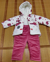 2015 fall and winter clothes baby suit thick warm coat, winter walking dress Dongkuan newborns