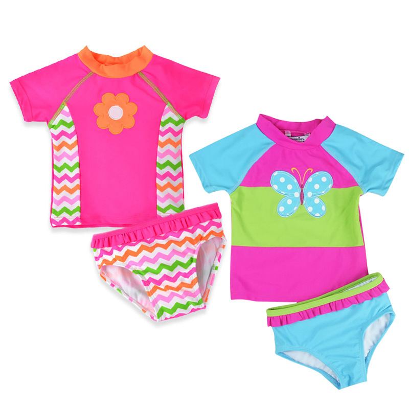 Newborn Baby Bikini Sets Girl Swimsuit Infant Bathing Suits Summer Girls Two Pieces Swimwear Shorts Beach T-shirt(China)