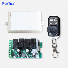 433Mhz Universal Wireless AC 110V 220V 4CH Relay Remote Control Transmitter And Receiver Circuit With RF 433 Mhz Remote Controls