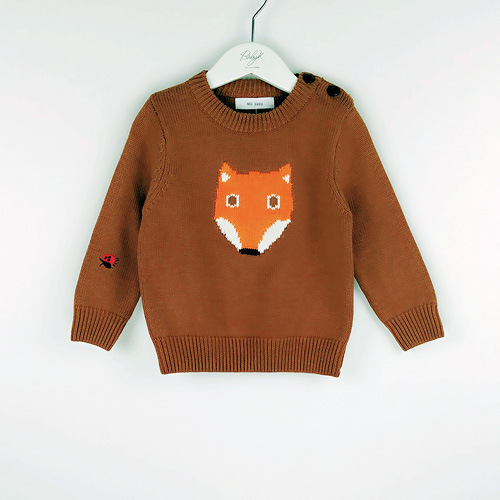 New Year Baby Boy Girl Costume Crochet FOX Top Animal Sweater Children Autumn Jumper Toddler Clothing Pullover Bebe 1-5T