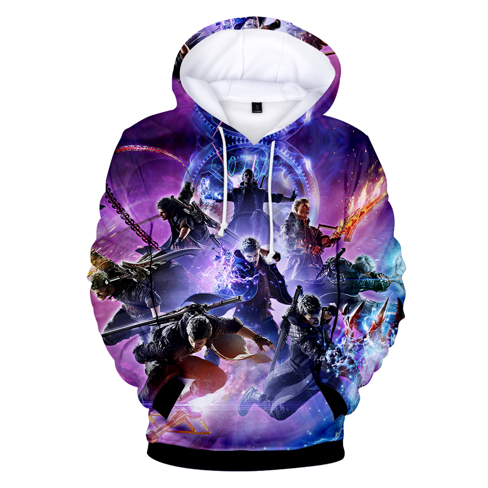 Creative Rainbow Lettering Childish Print Apparel Mens 3D Printed Pullover Long Sleeve Hooded Sweatshirts with Pockets