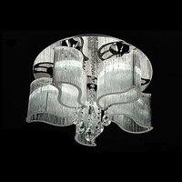 Frete Grátis Modern LED K9 de Cristal Do Teto 25 w 110-220 v 50 Lâmpada