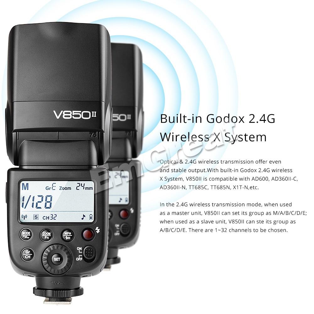 Godox V850II GN60 2.4G Wirless X Sistemi Speedlite ile Canon Nikon - Kamera ve Fotoğraf - Fotoğraf 3