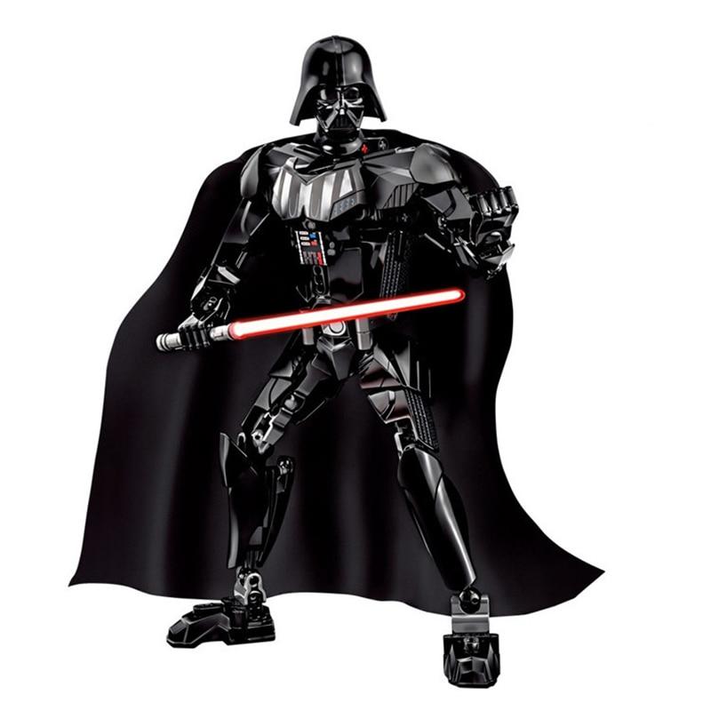 Звездные войны сборная фигура строительный блок Штурмовик Дарт Вейдер Kylo Ren Chewbacca Boba Jango Фетт фигурка игрушка для детей - Цвет: Darth Vader