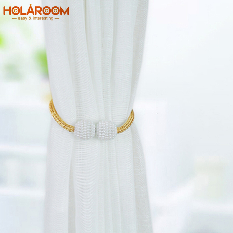 1pc Pearl Magnetic Curtain Clip Curtain Holders Tieback Buckle Clips Quality Hanging Ball Buckle Tie Back Curtain Accessories
