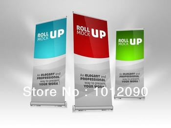 """High quality 32"""" W Roll up Banner/Pull up Banner/Luxury Roll up Banner/retractable banner/retractable display"""